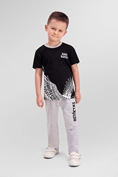 Beşiktaş Beşiktaş Lisanslı Siyah Erkek Çocuk Pijama Takımı Siyah